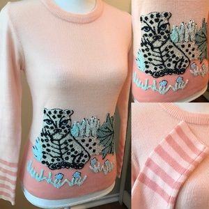 vintage pink jungle sweater